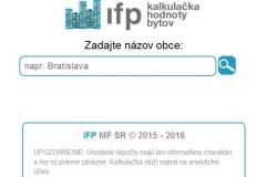 IFP kalkulačka hodnoty bytov
